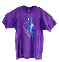 VTG Men's Purple Community Center 90s Spell Out Single Stitch T-Shirt Sz... - $19.05