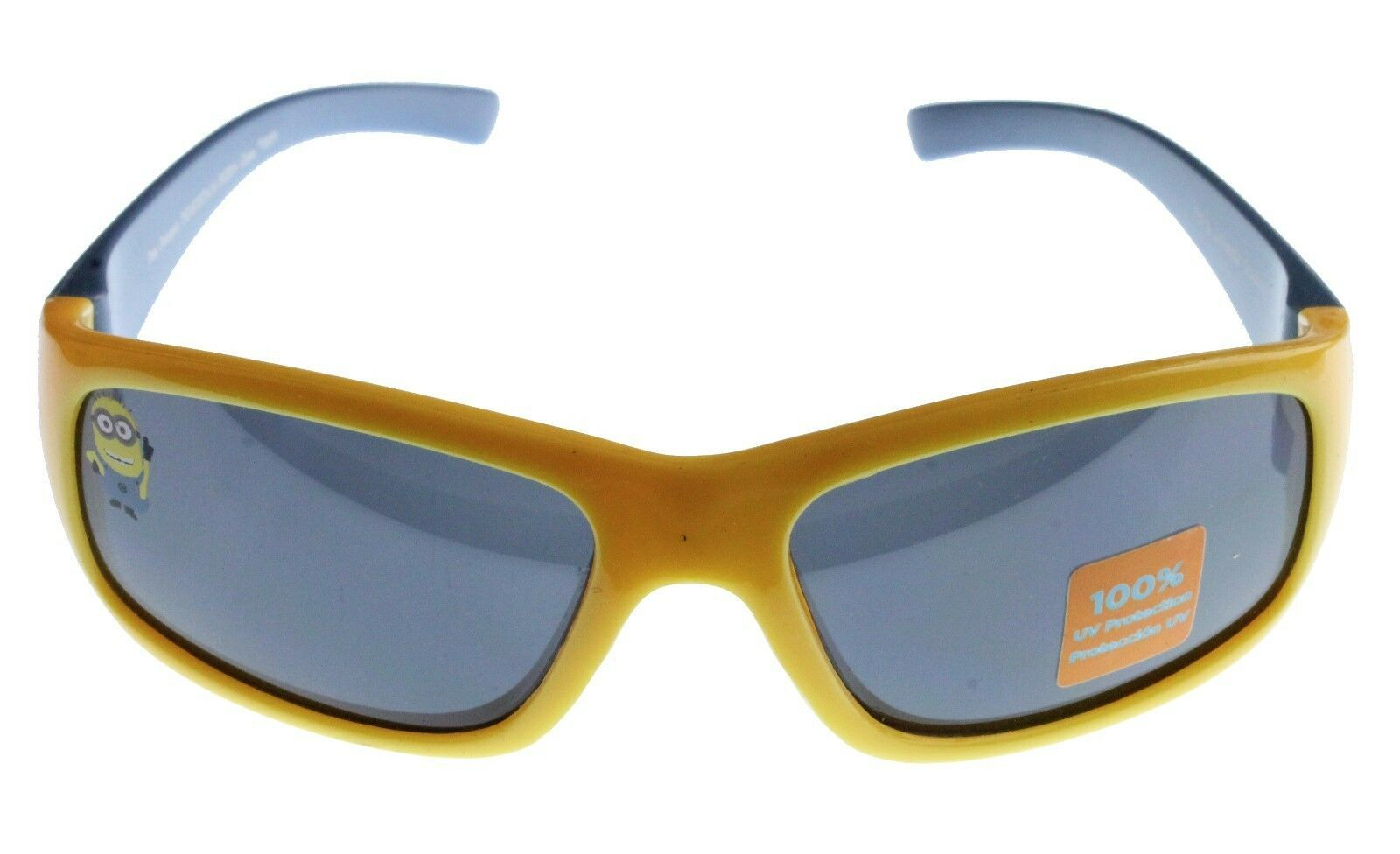 New Despicable Me Boys Kids Youth Blue Yellow 1 in a Minion 100% UV Sunglasses