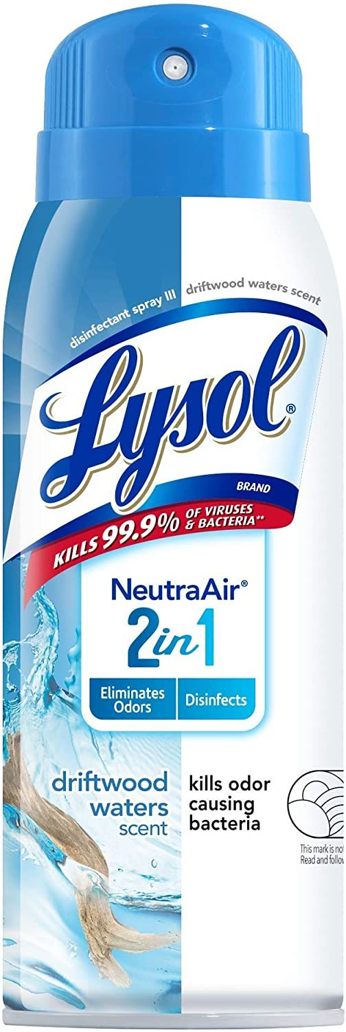 Lysol Neutraair Disinfectant Spray, 2 In 1 Driftwood Waters, (Pack of 3, 10 Ounc - $39.99