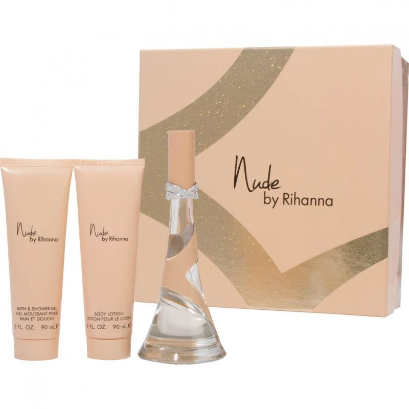 Rihanna Nude 3.4 Oz Eau De Parfum Spray 3 Pcs Gift Set