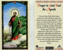 Prayer to Saint Paul the Apostle - EB150 - Made Jesus Known Suffered Prison - $2.79