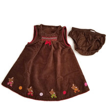 Gymboree Reindeer Frolic Dress  6-12 Months Christmas Holiday Outfit - $13.50