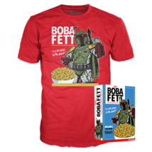 Star Wars Funko Exclusive Boba Fett Cinnamon Cereal T Shirt Box XL Manda... - $44.05