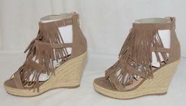 BF Betani Shiloh 8 Stone Fringe Wedge Heel Sandals Size 6 image 3
