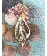 Handmade Seashell Core Pendant, Wire Wrapped - $25.00