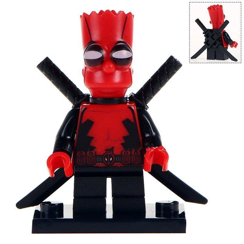 Simpsons Deadpool Marvel Superhero Lego Minifigures Block Toy Gift