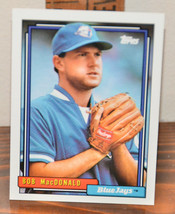New Mint Topps trading card Baseball card 1992 Bob MacDonald Blue Jays 87 - $1.48