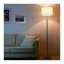 "IKEA ROXMO Floor lamp, white shade, 65 "" DECORATION GLASS! - $174.23"