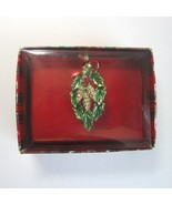 Vintage Holly Leaf and Berries Wreath Christmas Pin by Gerry Pins -Signe... - $11.50