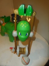 Little Tikes B.C. Builders Green Dinosaur Crane Brontosaurus Apatosaurus... - $9.85