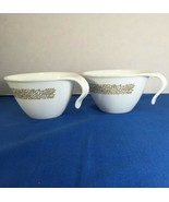 Corning Corelle 2 Coffee Cups Woodland Brown Hook Handle Fall Thanksgiving - $19.79