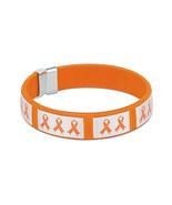Orange Ribbon Awareness Bangle Bracelet - $9.00
