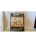 Christmas On Santa's Knee  Christmas Needlepoint Kit #48646 Bucilla - $29.70
