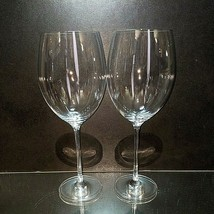 2 (Two) LENOX TUSCANY CLASSICS Grand Bordeaux Crystal Wine Goblets Glass... - $18.04