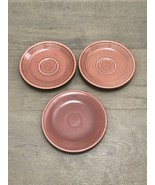 "1 VTG FIESTA Rose 6.25"" BREAD PLATE & 2 Saucers HOMER LAUGHLIN HLC FIEST... - $30.00"