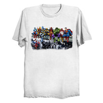 Marvel and DC Superheroes Lunch Atop A Skyscraper - Cut-Out Unisex T-Shirt *FREE - $29.99
