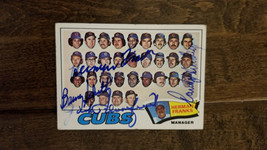 1977 TOPPS CUBS QUAD SIGNED AUTO TEAM CARD FRANKS HUNDLEY SCHULTZ BLOOMF... - $34.64