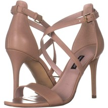 Nine West Mydebut Dress Heel Sandals 396, Light Natural Leather, 9.5 US - $29.75