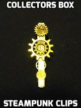 "Steampunk Alligator Clips / 2"" Length - Collectors Box Designed Gears an... - $10.00"