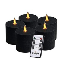 smtyle Halloween Decor Black Flameless Candles Haunted Prop Flickering R... - $31.85