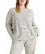 Madewell Waffle Knit Pajama Top Light Heather Grey M - $29.69