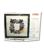Creative Circle 1660 Fruitful Wreath Counted Cross Stitch Kit Grapes 9 x 9  - $24.99