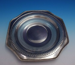 """Frank Whiting Sterling Silver Serving Tray Pierced #447 11 1/2"""" Diameter... - $389.00"""