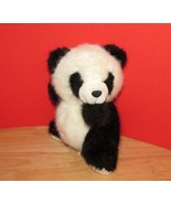 Russ Berrie Plush vintage Ping panda teddy bear seated black made Korea ... - $8.01