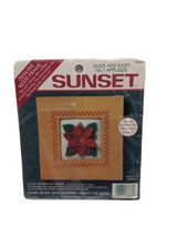Dimensions Sunsets Felt applique kit little poinsettia frame 18069 5x5  - $10.88