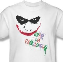 The Joker T shirt Why So Serious Dark Knight superhero Batman cotton tee BM1508 image 1