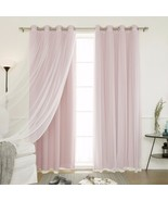 Window Curtains Grommet Drapes 2 Blackout 2 Sheer Tulle Baby Infant Tota... - $89.99
