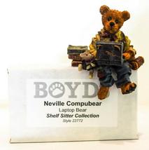 Boyds Bears  Neville Compubear  Laptop Bear  22772 Shelf Sitter Classic Figure - $14.84