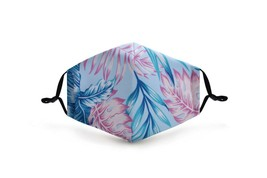 Blue/Pink Palm Leaves Face Mask Washable Reusable POLYESTER/COTTON +2 fi... - $13.99
