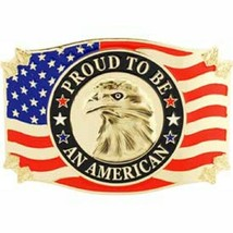 United States American Eagle Proud Belt Buckle - $18.76