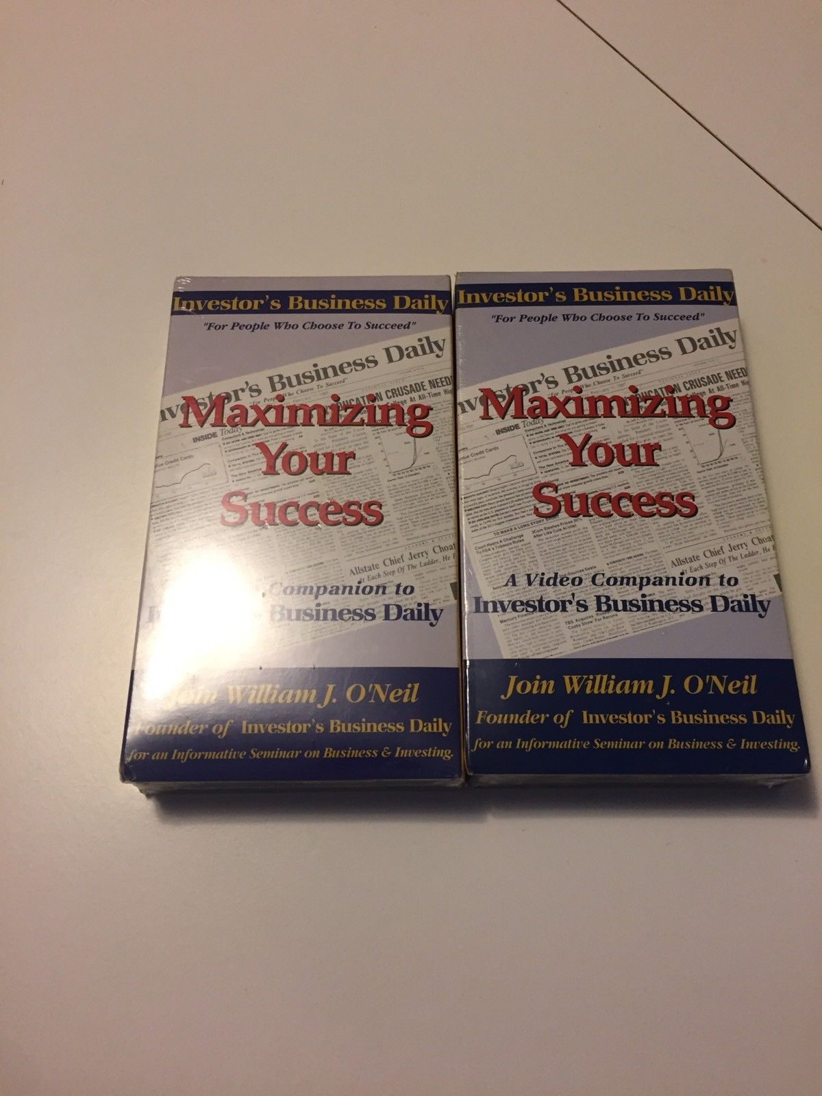 lot of 2~Maximizing Your Success William J. O'neil Self Help VHS Tape SEALED
