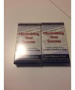lot of 2~Maximizing Your Success William J. O'neil Self Help VHS Tape SE... - $14.84