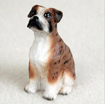 BOXER  (Brindle Uncropped) TINY ONES DOG Figurine Statue Gift Resin - $8.99