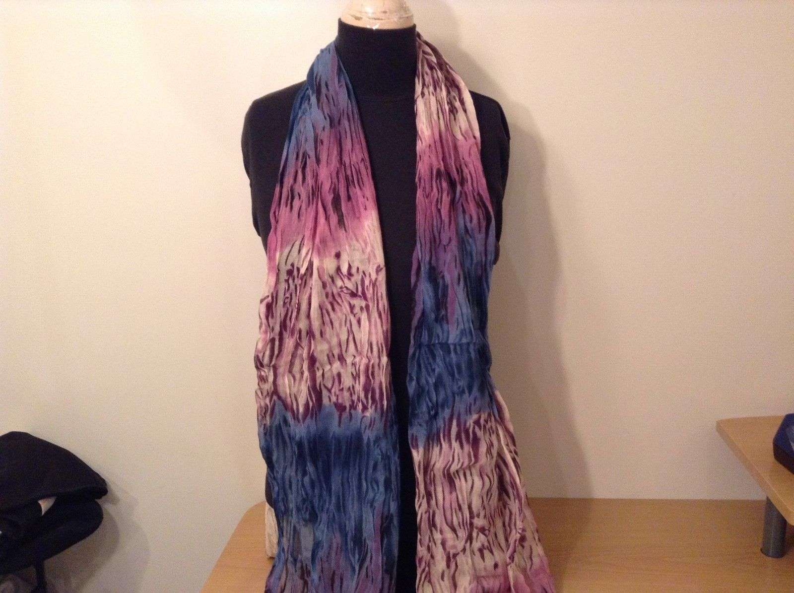 New fashion scarf shibori water color style in choice of color scheme