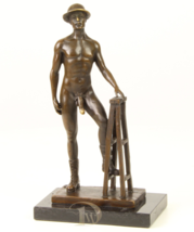 Antique Home Decor Bronze Sculpture shows Man Erotic Bronze *Free Air Sh... - $239.00