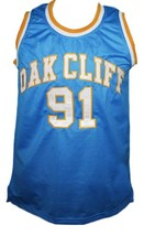 Dennis Rodman Oak Cliff High School Basketball Jersey New Sewn Blue Any Size image 4
