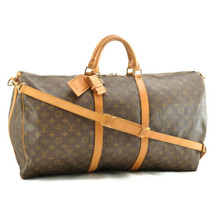 LOUIS VUITTON Monogram Keepall Bandouliere 60 Boston Bag M41412 LV Auth ... - $598.00