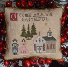 O Come All Ye Faithful christmas cross stitch chart Abby Rose Designs  - $9.90