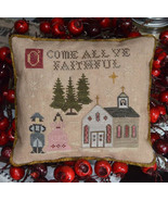 O Come All Ye Faithful christmas cross stitch chart Abby Rose Designs  - $9.90