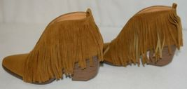 Beast Fashion Carrie 01 Camel Fringe Slip On Shoes Size Six image 5