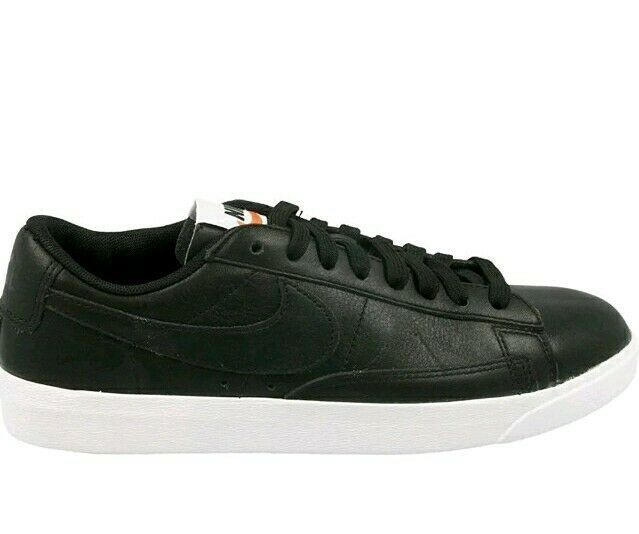 Nike Blazer Low new Leather Black/White Women's Sneakers - AA3961-001 size 8