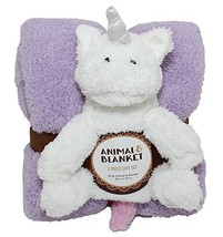 Silver One Sherpa Plush Stuffed Animal and Throw Blanket 2 Peice Gift Se... - $34.32