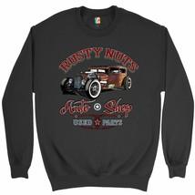 Rusty Nuts Auto Shop Sweatshirt Hot Rod Rat Rod Vintage Old School Crewneck - $19.72+