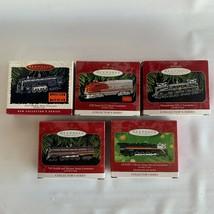 Lot 5 Vintage LIONEL Train Series Hallmark Christmas Ornaments Die Cast ... - $50.00