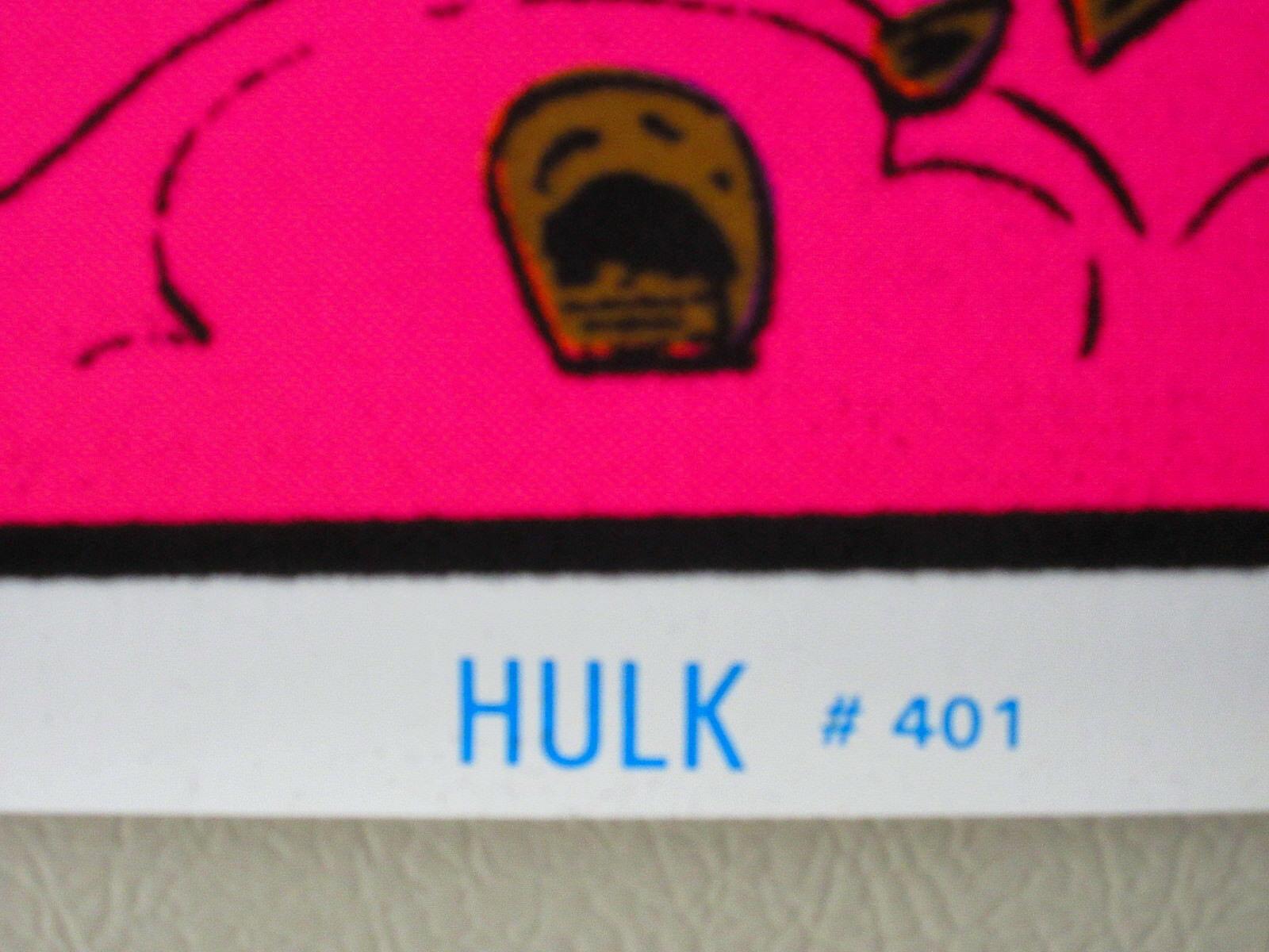 1996 Hulk 35 x 23 Marvel Comics blacklight poster 1: Avengers/1990's Marvelmania