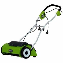 Walk Behind Lawn Mower: 10 Amp 14 in Dethatching Path 3 Position Depth A... - $266.45